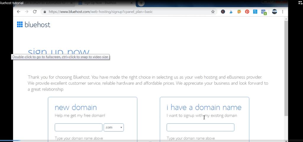 bluehost web- hosting plan