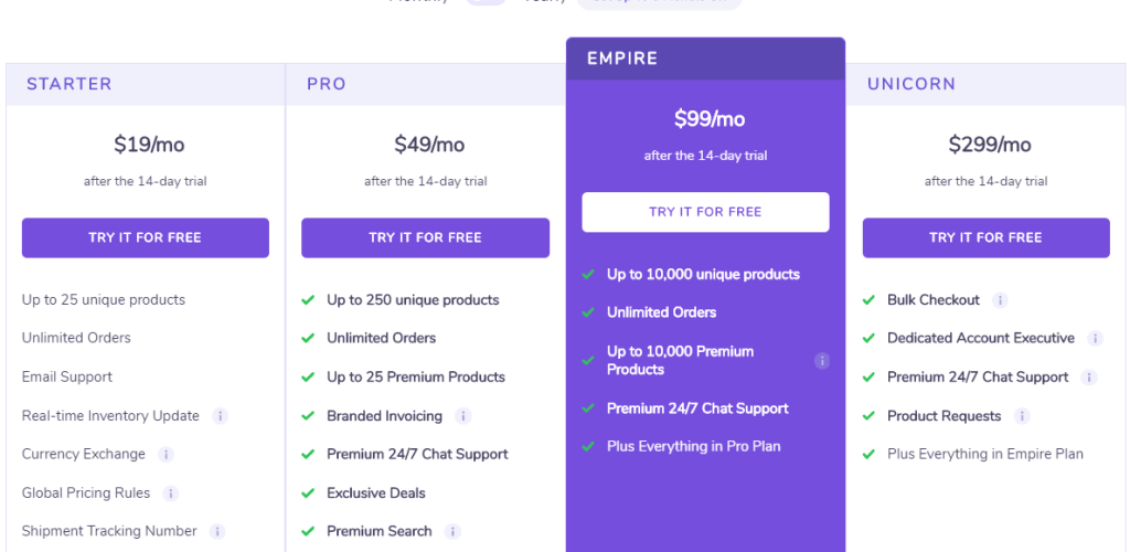 spocket pricing