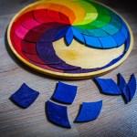 Grimms Holz Einlege Puzzle Farbspirale
