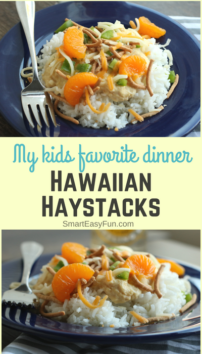 The Best Crock Pot Hawaiian Haystacks - Super easy dinner that everyone will love. Great for family dinners or to feed a crowd at a party. Everyone gets to customize their haystack with their favorite toppings. SmartEasyFun.com #chickenrecipe #dinner #hawaiianhaystacks