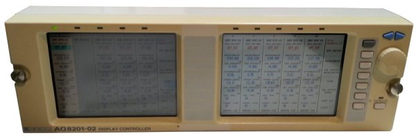 Ando AQ8201-02 Display Controller Dual Display Unit with Cables