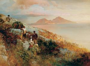 Oswald Achenbach Blick auf Capri Von der Heydt Museum 1