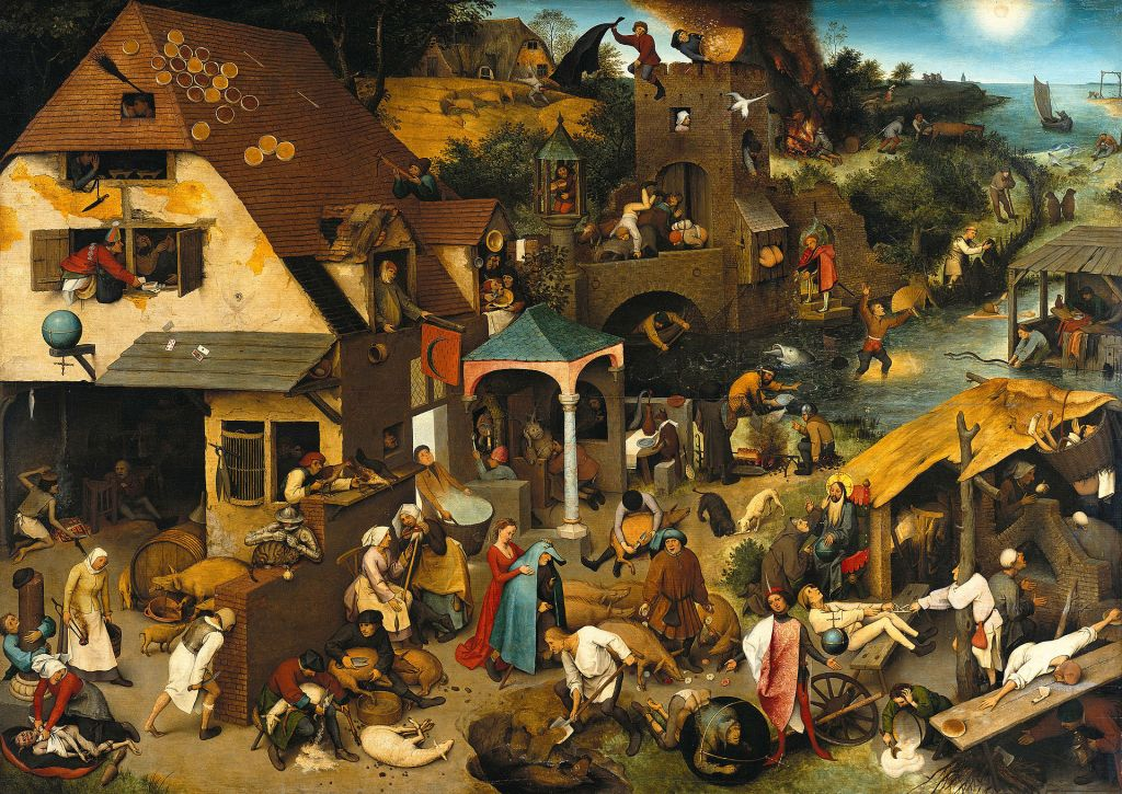 1920px Pieter Brueghel the Elder The Dutch Proverbs Google Art Project