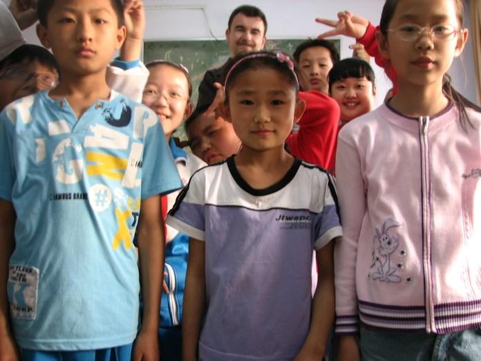 At Mr Gao's English School, Jilin, China
