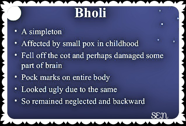 Questions answers of Bholi
