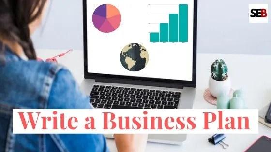 write a business plan - woman typing on a laptop