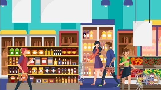 tricks to promote your offline store - inside a gorcery store