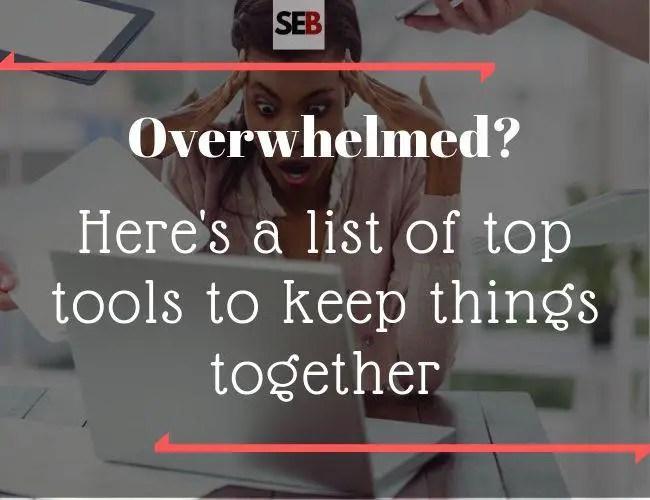 Tools for The Overwhelmed Marketing Manager - smart entrepreneur blog