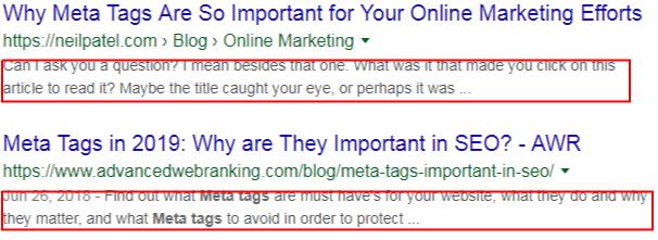 screen shot of meta description - what is seo in digital marketing