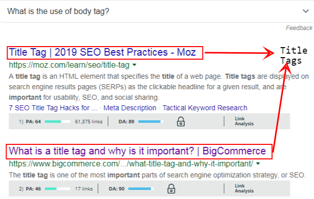 Title tags in SEO in a nutshell - digital marketing