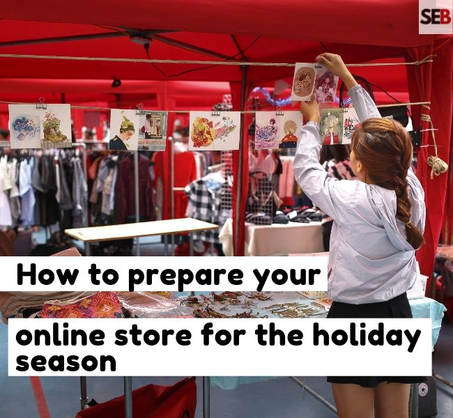 A retailer in her store -how to prepare your online store for the holiday season