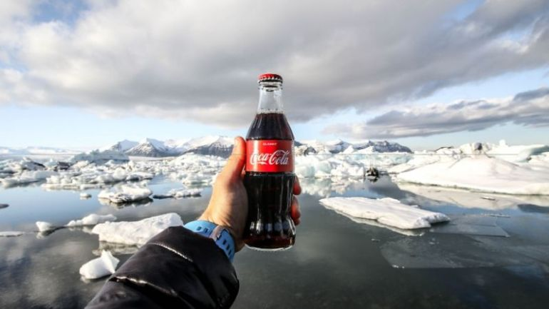 branding helps you build customer loyalt - a coca cola drink image taken in the artic