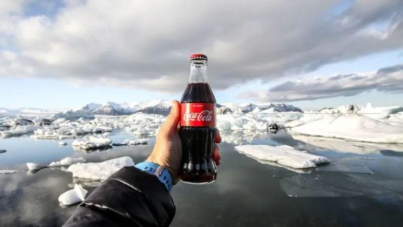 branding helps you build customer loyalt - a coca cola drink image taken in the artic