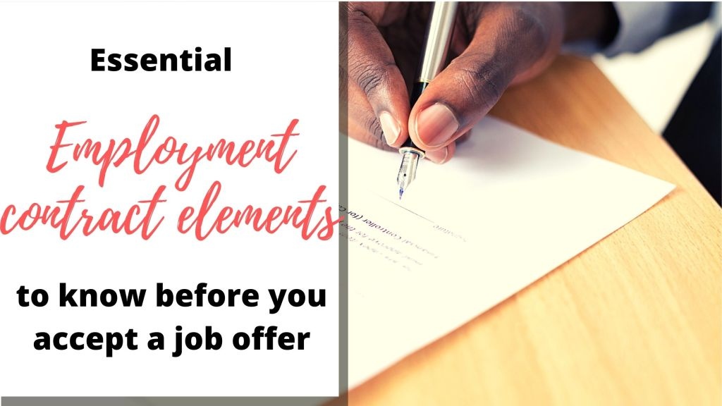 Key Employment Contract Elements to Know Before Signing That Job Offer 7