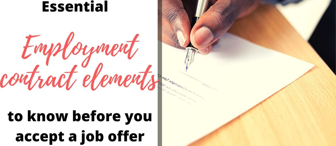 Key Employment Contract Elements to Know Before Signing That Job Offer 3