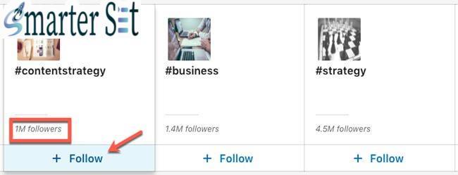linkedin hashtag follow 1