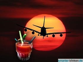 Tomatensaft Flugzeug