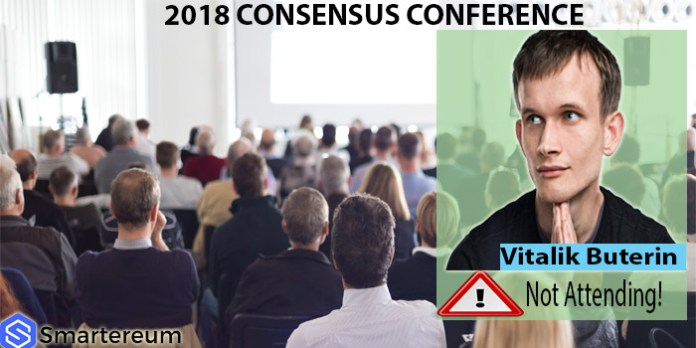 Vitalik Buterin to boycott Consensus 2018 Cryptocurrency Conference