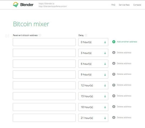 8 addresses for Blender.io