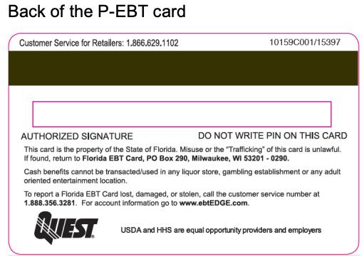"""Check Florida P-EBT Card balance"""