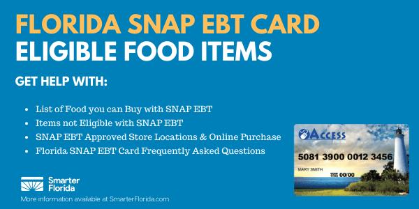 Florida SNAP EBT Card Eligible Food List