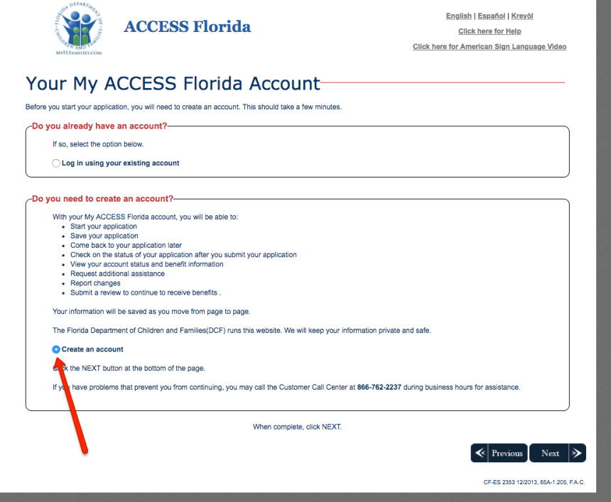 """Create myaccessflorida Account help"""