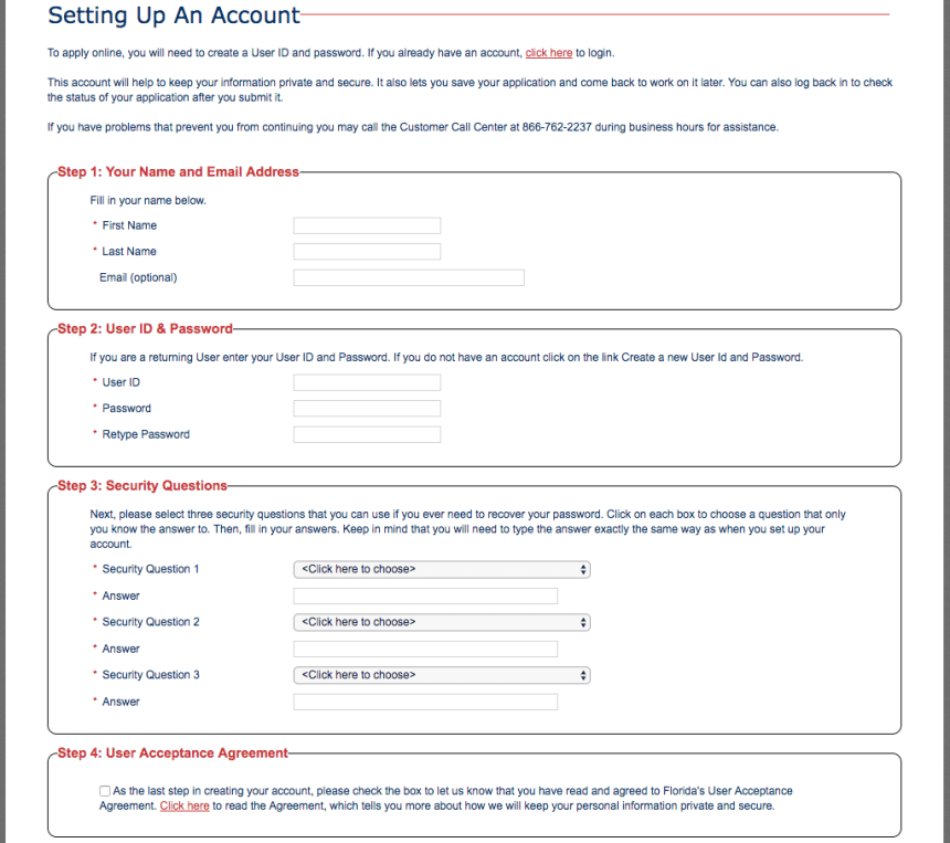 """how to Create myaccessflorida Account and apply"""