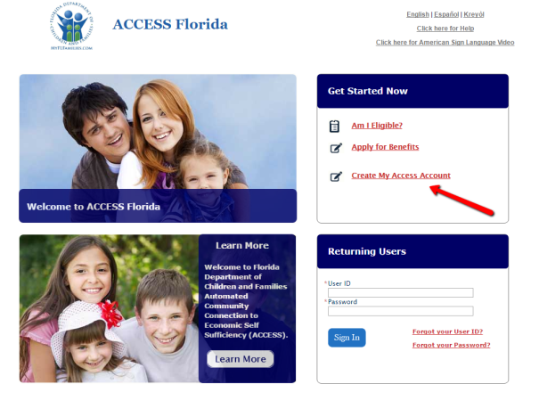 My Access Florida Account