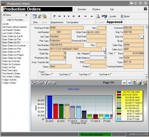 manufacturing dashboard software, production order management data views
