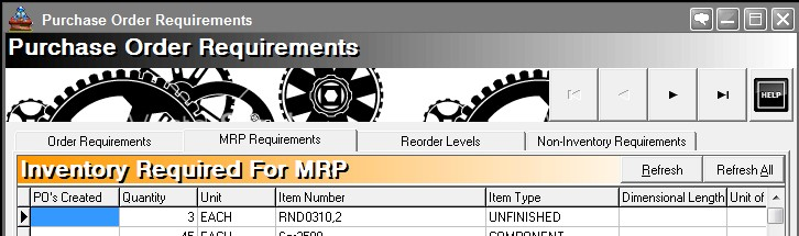 MRP - Material Requirements Planning Software