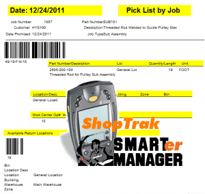 ShopTrak- Inventory Control with barcode technology