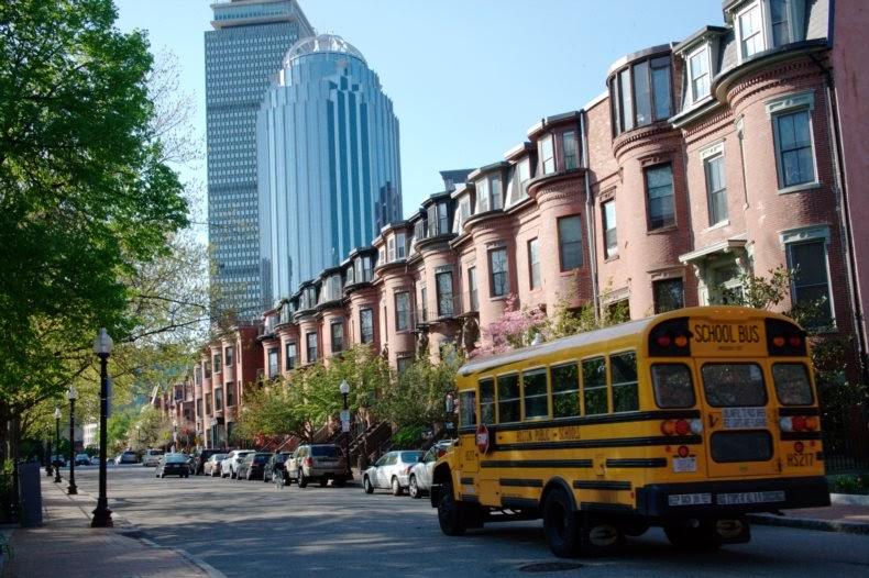11 Massachusetts Boston school bus P9K93J