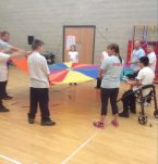 Special Olympics parachute