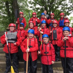 First group ready to do team building skills at Broomley.