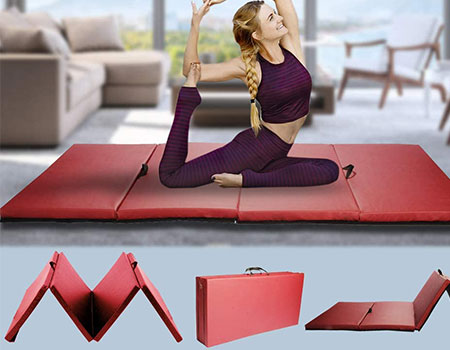 Gym Exercise Mat Thick Gymnastics Mat | Top 10 Best Padded Workout Mats For Home Exercise