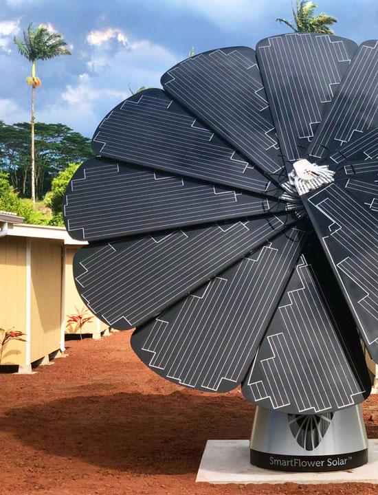 SmartFlower Brings Hope to Micro-Shelter Village - Smartflower