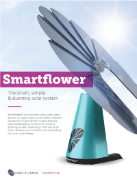 Tesla Mode X and Smartflower