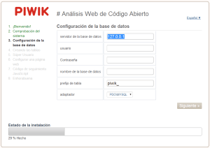 Base de datos Piwik