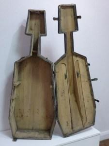 open cello shipping case