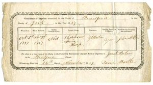 Birth Certificate Grandad Thorp