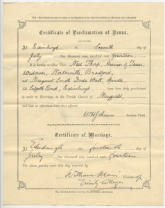 Certificate of Marriage 1914