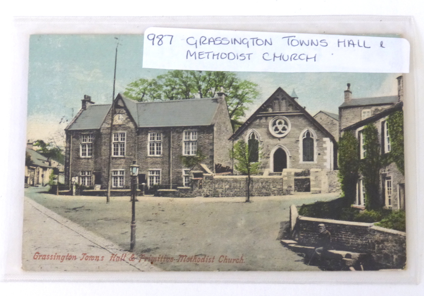 Postcard Of Grassington Town Hall