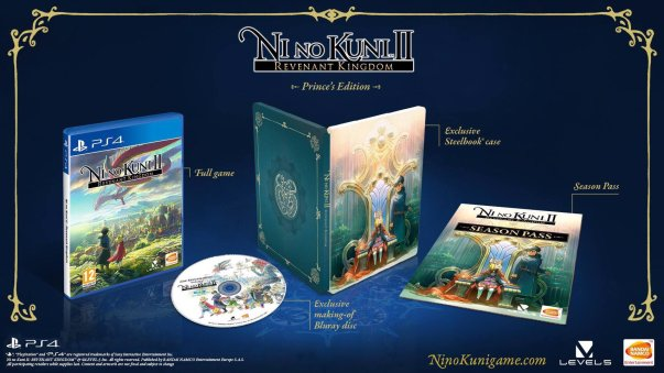 Ni No Kuni II collector Prince edition limitee limited