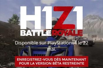 H1Z1 : Le battle Royale débarque sur PS4 !