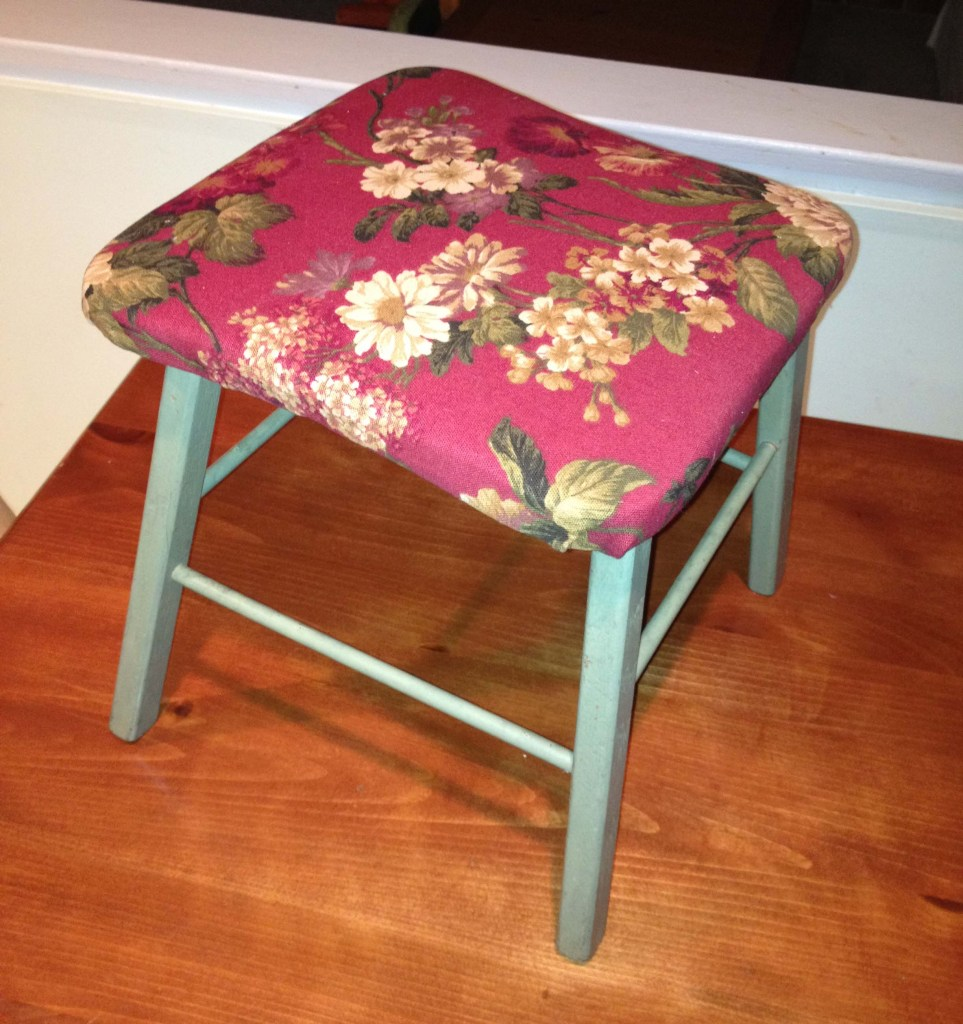 Stool makeover - after