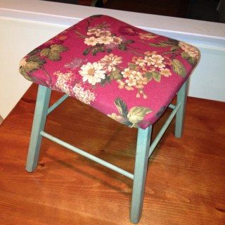 Stool Mini-Makeover for My Client