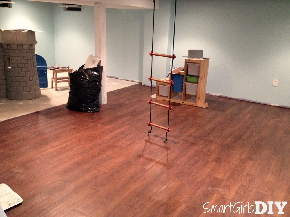 diy basement flooring traffic master allure in american walnut