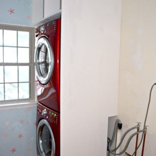 Laundry Room 2: Shelf Over Stacked Washer/Dryer