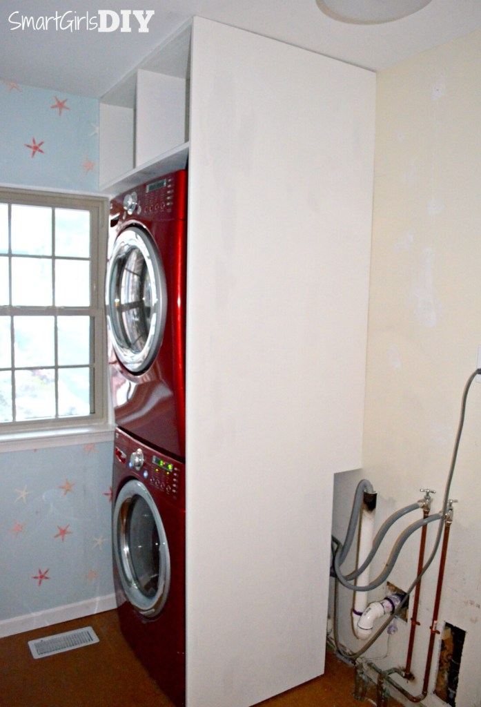 Laundry Room 2 Shelf Over Stacked Washer Dryer