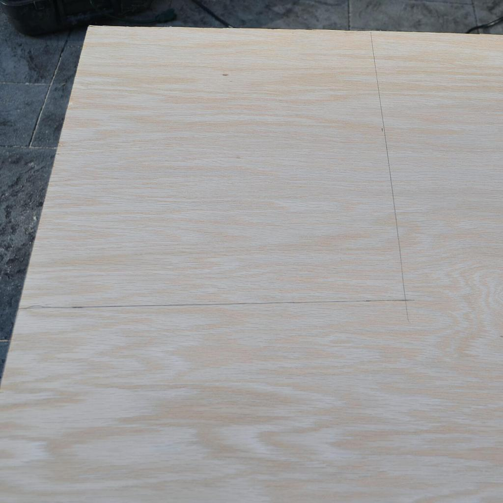 cutting plywood square